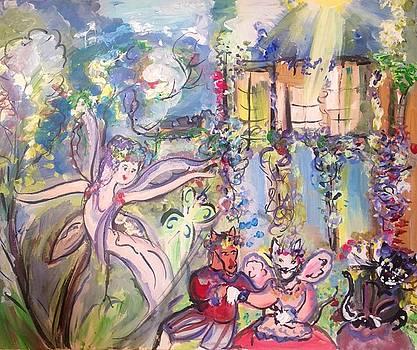 Midsummer felines  by Judith Desrosiers