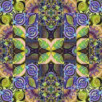 Midsummer Night Magic - A T J O D Mandala Series Puzzle 7 Arrangement 2 Variation by Helena Tiainen