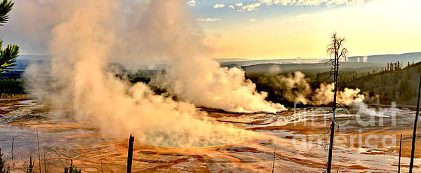 Adam Jewell - MIdway Geyser Basin Steamy Sunrise
