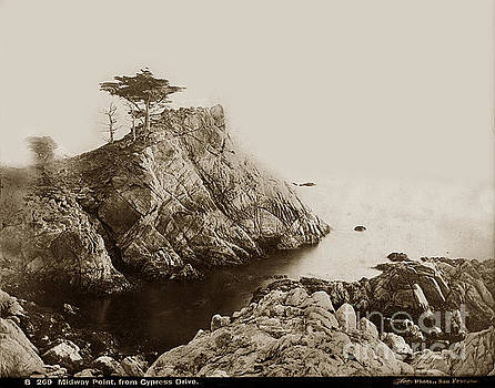 California Views Mr Pat Hathaway Archives - Midway Point From Cypress Drive Pebble Beach I.W. Taber photo circa 1882