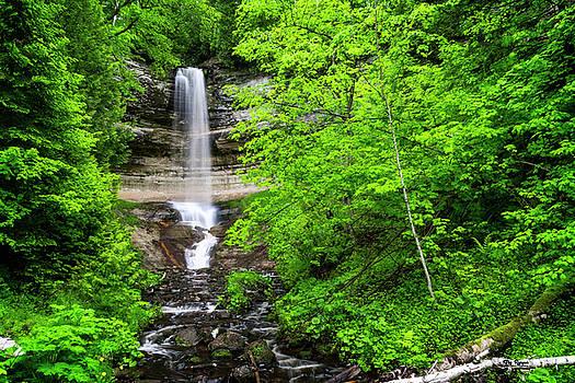 Mighty Munising Waterfall by Peg Runyan