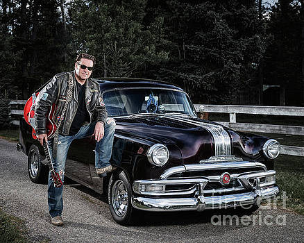 Mike and his 53 Pontiac by Brad Allen Fine Art