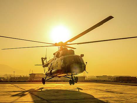 Mil Mi-8 Hip at Sunrise by SR Green