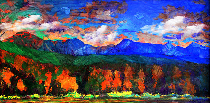 Milagro Clouds Over Jicarita and Truchas Peaks from the High Road to Taos by Anastasia Savage Ealy