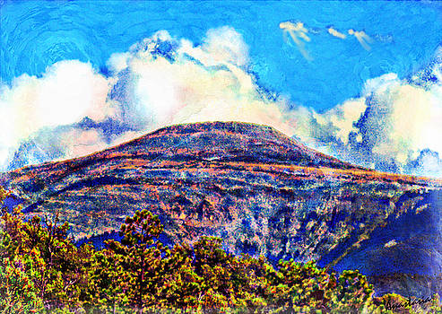 Milagro Clouds Over Jicarita Peak from the High Road  by Anastasia Savage Ealy