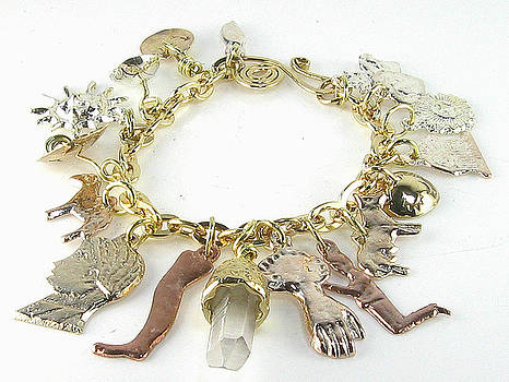Milagro Crystal Charm Bracelet by Vagabond Folk Art - Virginia Vivier