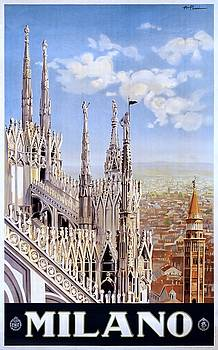 Milano Italy, travel poster for ENIT, ca. 1920 by Vintage Printery