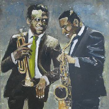 Miles Davis And Wayen Shorter No Two by Udi Peled
