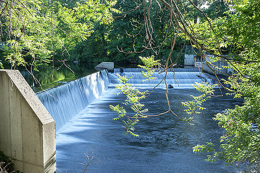 Dam on the Souhegan River in Milford, New Hampshire by New England Photographic
