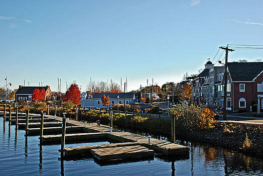 Milford Harbor in Novemver by Frank Feliciano