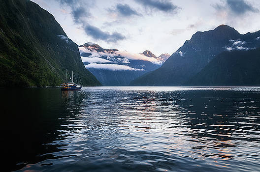 Milford Sound over night cruise at Harrison Cove by Daniela Constantinescu