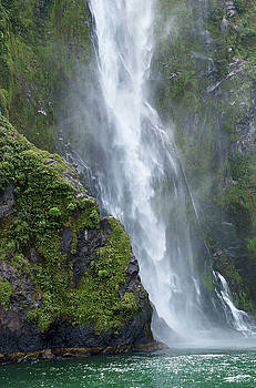 Milford Sound Waterfall by Brian Puyear