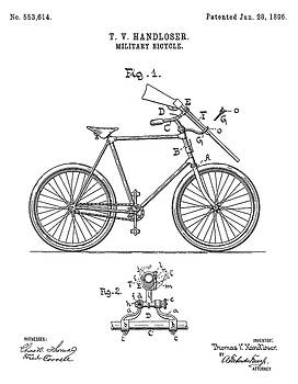JESP Art and Decor - Military Bicycle - Patent Drawing for the 1896 T. V. Handloser Military Bicycle