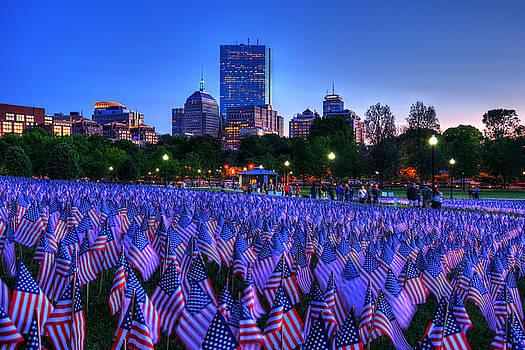Military Heroes Garden of Flags - Boston Common by Joann Vitali