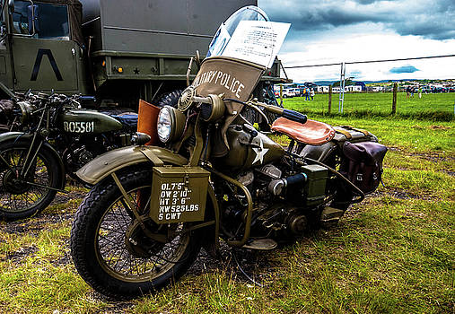 Military Police bike by Peter Jenkins