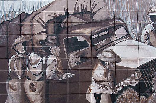 Military Truck Street Art by Robert Braley