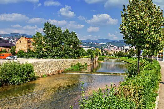 Elenarts - Elena Duvernay photo - Miljacka river, Sarajevo, Bosnia and Herzegovina