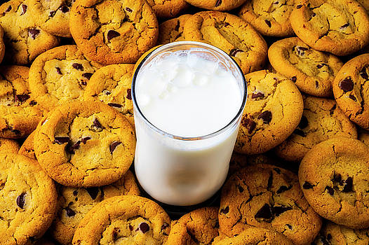 Milk And Chocolate Chip Cookies by Garry Gay