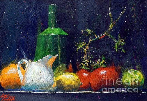 Milk jar and tomatoes by Andre MEHU