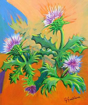 Milk Thistle by Jeanine Jacildone