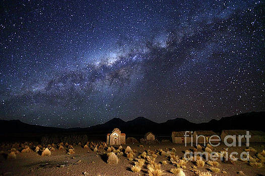 James Brunker - Milky Way Above Abandoned Church in Altiplano Bolivia