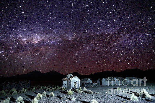 James Brunker - Milky Way Above Abandoned Community and Church Bolivia