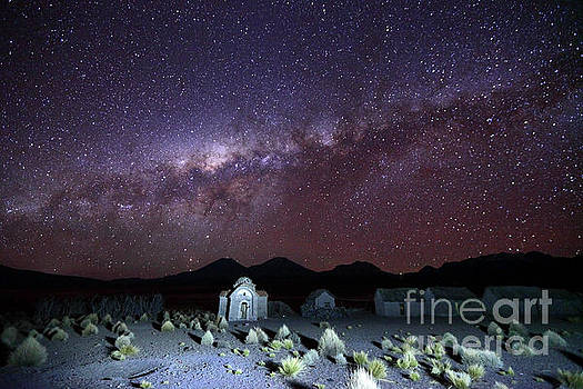 James Brunker - Milky Way Above Abandoned Rural Hamlet and Church Bolivia