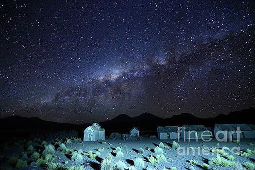 James Brunker - Milky Way Above Abandoned Rural Settlement and Church Bolivia