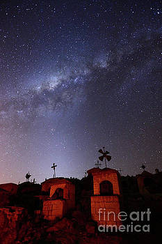 James Brunker - Milky Way Above Milluni Cemetery Bolivia