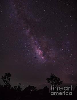 Milky Way and galaxy. by Tosporn Preede