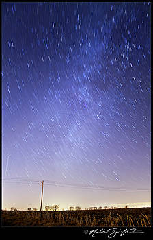 Milky Way and Star Trails by Melinda Swinford