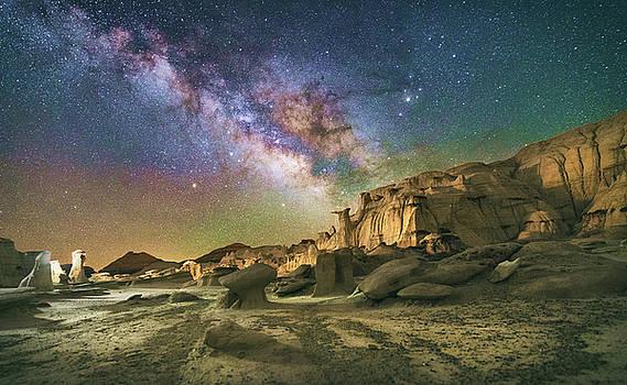 Milky Way and the Bisti Badlands by Marybeth Kiczenski