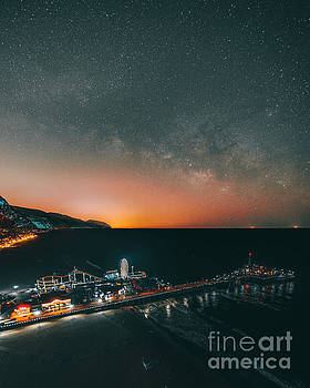 Milky Way and the Pier by Art K