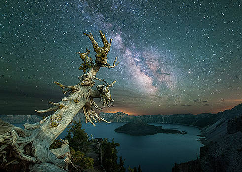 Milky Way at Crater Lake by Keith Marsh