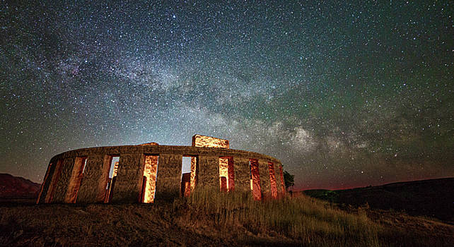Milky Way at Stonehenge by Wes and Dotty Weber