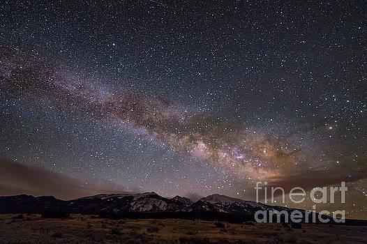 Milky Way over Blanca Peak in Colorado by Tibor Vari