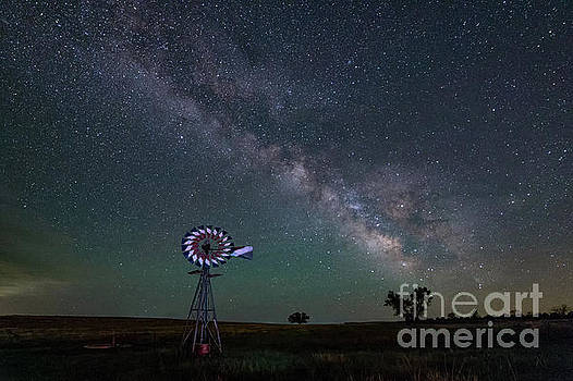 Milky Way over CO Windmill by Tibor Vari