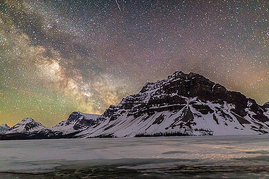 Milky Way over Crowfoot Mountain by M C Hood