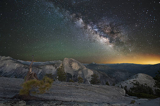 Milky Way over Half Dome by Keith Marsh