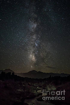 Milky Way over Hot Creek 2 by Kevin Westenbarger