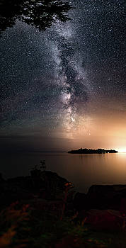Milky Way over Mary Island from Silver Harbour near Thunder Bay by Jakub Sisak