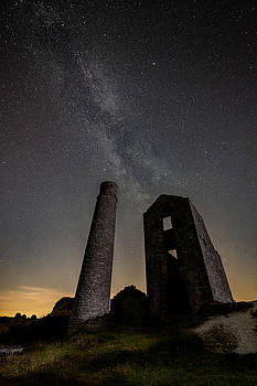 Milky Way Over Old Mine Buildings. by Andy Astbury