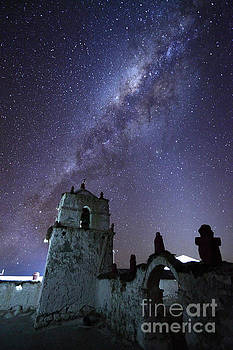 James Brunker - Milky Way over Parinacota Church Chile