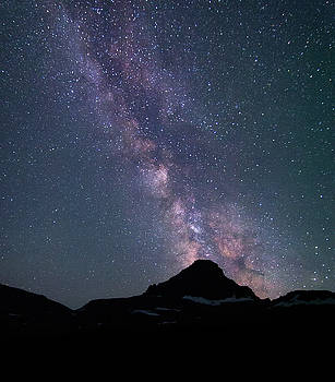 Milky way over Reynolds Mt by Alan Anderson