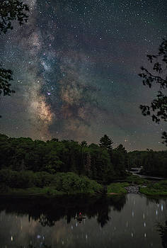 Milky Way over Tahquamenon Falls  by Marybeth Kiczenski