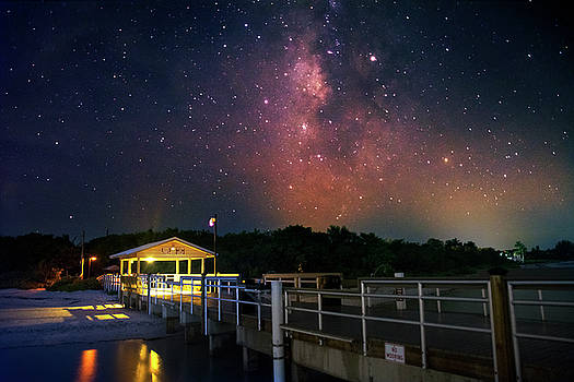 Milky Way Over The Sanibel Pier by Greg and Chrystal Mimbs