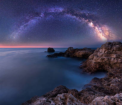 Milky Way over the sea by Evgeni Ivanov