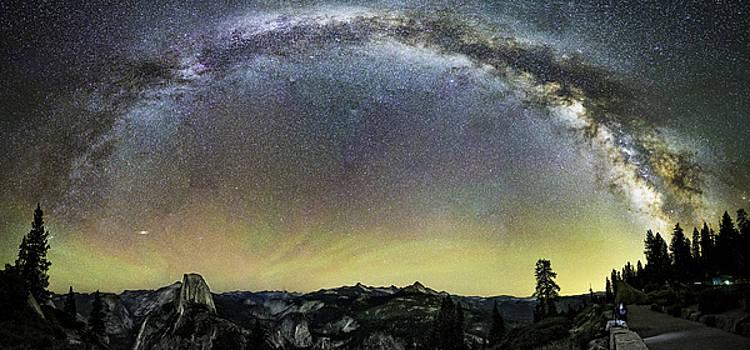 Milky Way over Yosemite Valley by Tony Fuentes