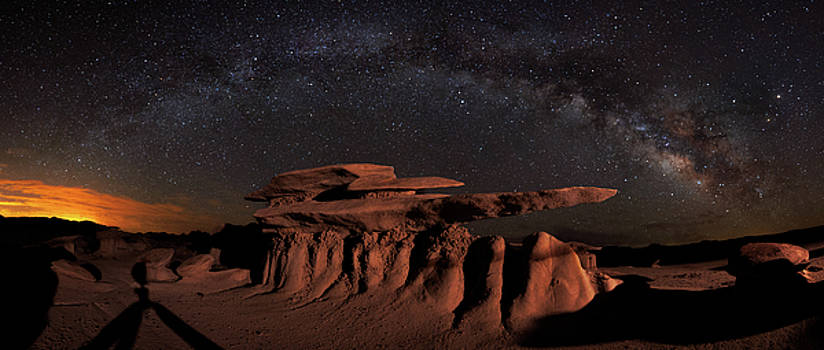 Milky Way Rainbow In The Bisti Badlands by Mike Berenson