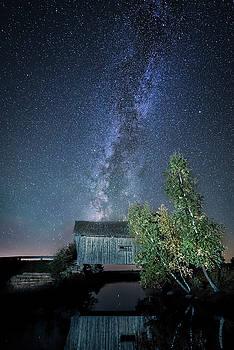 Milky Way rising at Foster Covered Bridge by Matt Shiffler